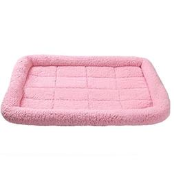 OCSOSO Pet Lodge Fleece Crate Bed )