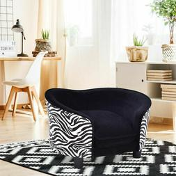 Pet Lounge Sofa Dog Puppy Bed Soft Warm Snuggle Couch Cushio