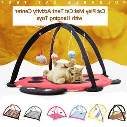 Pet Play Mat Cat Tent Hanging Toys Pad Fr Puppy Dogs Cats Fo
