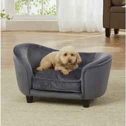 Pet Plush Puppy Cushion Bed Dog Luxury Seat Chair Couch Remo