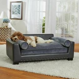 Pet Plush Wood Sofa Bed Dog Large Seat Chair Cat Couch Remov