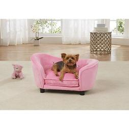 Pet Plush Wood Sofa Bed Dog Luxury Seat Chair Cat Couch Remo