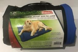 Coleman Pet Roll-Up Waterproof Travel Bed Up To 75 LBS Blue