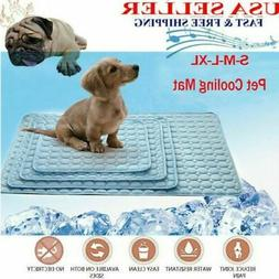 Pet Self-Cooling Gel Mat For Floor Bed Crate Cool Dog Cushio