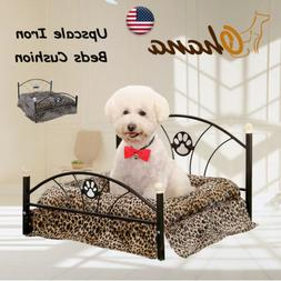Pet Small Dog Cat Raised Bed Soft Warm Cushion Removable Mat