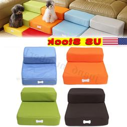 Pet Stairs 2 Step Pure Color Dog Puppy Cat Sofa Bed Indoor S