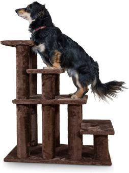 Furhaven Pet Steady Paws 4 Step Pet Stairs  Brown