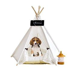 Zaihe Pet Teepee Dog & Cat Bed - Dog Tents & Pet Houses with
