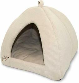 Pet Tent Bed Dog Medium Corduroy Soft Cozy Cat Cave Indoor C