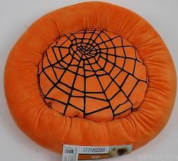 Martha Stewart Pets Round Black Spider Web Bolster Small Dog