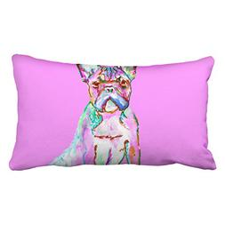 Accrocn Pillowcases Pink Cute Girly Dog Watercolor Polyester