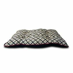 AKC Plaid Tufted Pillow Dog Bed
