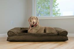 plush and suede pillow sofa dog bed