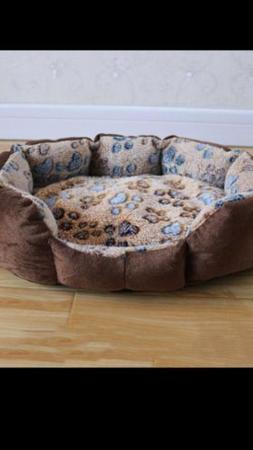 Petmate Plush Lounger Bolster Dog Bed for dogs, cats small a