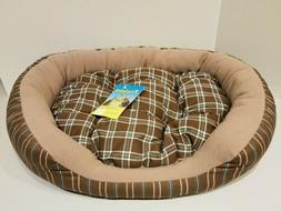 Amore Plush Oval Dog Pet Bed 24 Inches