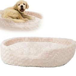 PLUSH PET BED Couch X-Large Cuddle Round Dog Pillow Durable