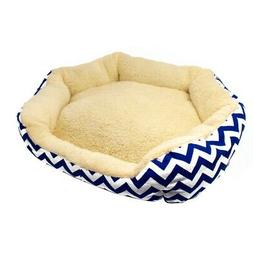 ALEKO Plush Round Dog Pet Bed with Extra Tall Sides 18 x 22