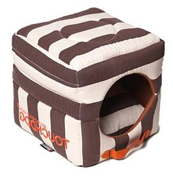 touchdog 'Polo-Striped' Convertible Squared 2-in-1 Collapsib
