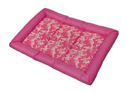 Zeckos Polyester Pet Beds Snoozzy Durable Pink Canine Camouf