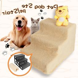 Portable 3 Steps Dog Steps For High Bed Pet Stairs Small Dog