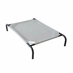 "Portable Elevated Dog Bed 7"" Off The Ground Pet Rest, Large"
