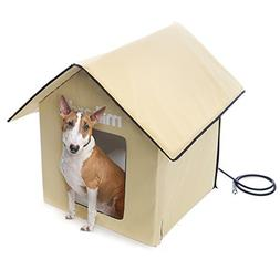 MILLIARD Portable Heated Outdoor Pet House - 24in.x24in.x30i