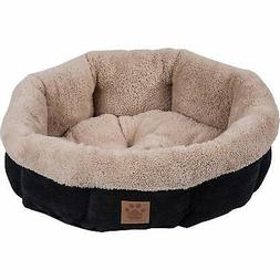 Precision Pet SnooZZy Mod Chic Round Shearling Bed, Black