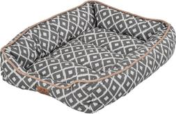 Precision Pet SNZ Ikat Drawer Bed, Gray, 24 by 18 by 6""