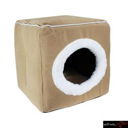 Premium Pet Dog Cat Bed House Portable Cube Cave Nest Igloo