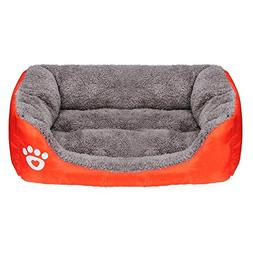 haoricu Puppy Bed, Pet Cat Cushion House Soft Warm Kennel Do