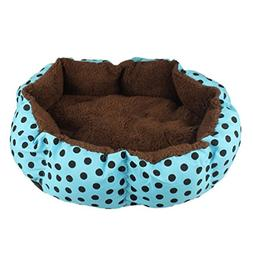 haoricu Puppy Bed, Soft Fleece Pet Dog Cat Warm House Plush