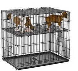 """MidWest Puppy Playpen with 1 Inch Mesh Floor Grid, 24""""L"""