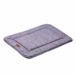 QIAOQI Dog Bed Kennel Pad Crate Mat | Washable Chew Proof Or