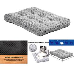Plush Pet Bed | Ombré Swirl Dog Bed & Cat Bed | Gray 23L x