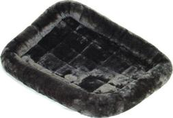 """Midwest QUIET TIME PET BED Dog Bed Plush Fur Pearl Gray 18"""","""