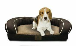 American Kennel Club Quilted Orthopedic Bolster Dog Bed
