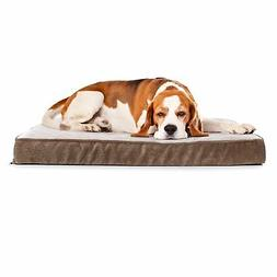 "Quilted Padded Orthopedic Dog Bed Egg Crate Foam 35""x22"" Plu"