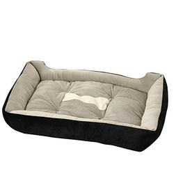Rectangle Orthopedic Pet Dog Cat Bed Cuddler and Nonslip Bot