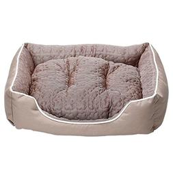 JEMA Rectangle Pet Dog Bed Cuddler - Self Cooling Dog Sofa,
