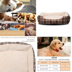 JEMA Rectangle Pet Dog Bed - Comfortable Two-side Cashmere P