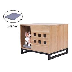 BBvilla Rectangle Wooden Pet House Ins Style Log Cabin with