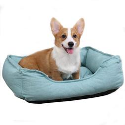 PAWZ Road Rectangular Bolster Dog Bed for Small Dogs, Super