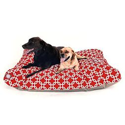 Red Links Extra Large Rectangle Indoor Outdoor Pet Dog Bed W