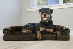 FurHaven Rottweiler Orthopedic Plush Sofa-Style Couch Pet Be