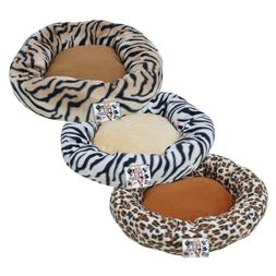 "Round 23"" Donut Dog Cat Pet Bed Crate  Mat Cushion  RED or B"