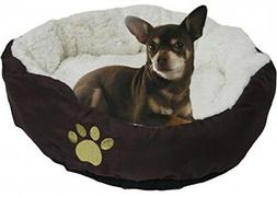 Evelots Small Round Pet Bed For Cat Dog Soft Warm Furniture