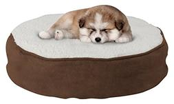 Round Pet Bed-Memory Foam Pillow Top Reversible Cat and Dog