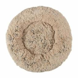 round pet bed taupe