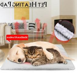 S/L Dog Cat Pet Mat Bed Pad Self Heating Soft Warm Rug Therm