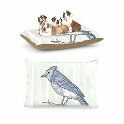 "Kess InHouse Sam Posnick ""Blue Jay"" Fleece Large Pet Dog Bed"